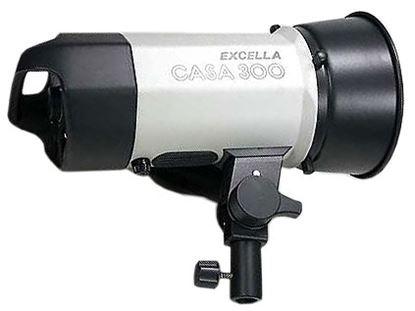 Obrázek Excella Flash Casa 300 Ws, včetně základního reflektoru, výbojky, žárovky, synchronizačního kabelu a síťového kabelu