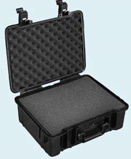 Obrázek TYP 50 – Černý vodotěsný kufřík vč. pěnové vložky s bezpečnostním uzavíráním.