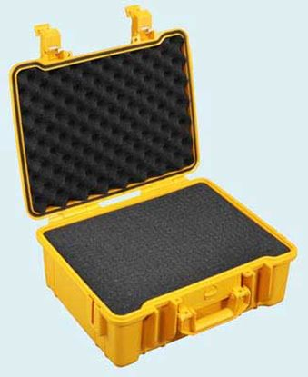 Obrázek TYP 50 – Oranžový vodotěsný kufřík vč. pěnové vložky s bezpečnostním uzavíráním.