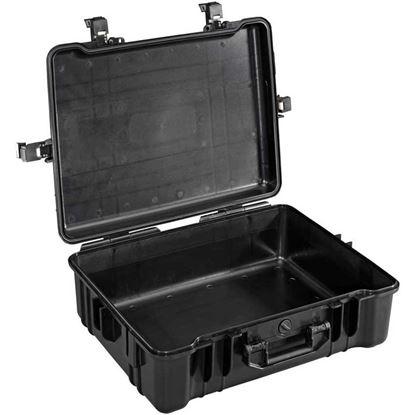 Obrázek Typ 65 – Černý vodotěsný kufr bez výplně - prázdný s bezpečnostním uzavíráním.