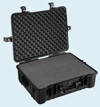 Obrázek Typ 65 – Černý vodotěsný kufr vč. pěnové vložky s bezpečnostním uzavíráním.