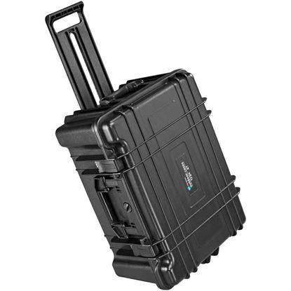 Obrázek TYP 67 - Vodotěsný kufr s kolečky bez výplně – prázdný s bezpečnostním uzavíráním.