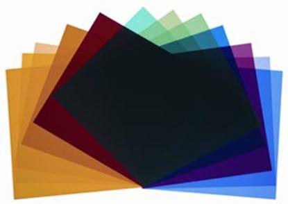 Obrázek Sada barevných filtrů (12 ks) pro reflektor P-65, P-45 a Par