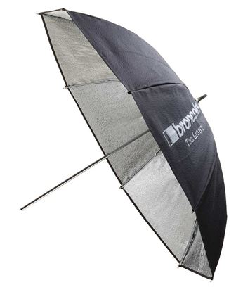 Obrázek Deštní stříbrný odrazný 102 cm pro všechny typy zábleskových světel Broncolor Minicom, Minipuls, Litos, Pulso G, Unilite, Picolite, Mobilite, Visatec Solo, Logos