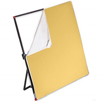 Obrázek Látka bílá/zlatá pro Litepanels 99 x 183 cm