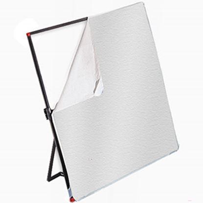 Obrázek Látka bílá/stříbrná pro Litepanels 99 x 183 cm