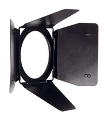 Obrázek 4-křídlé ostíňovací klapky pro reflektor Open Face/Par with barn door ears (DW 575 / DW 800)