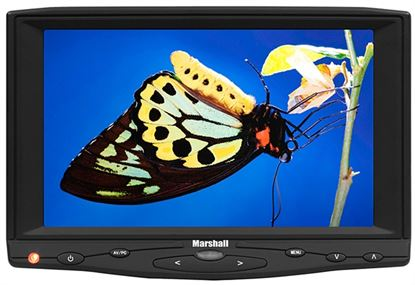 "Obrázek 7"" TFT LCD monitor s HDMI vstupem a s adaptérem pro Canon BP511 baterii"