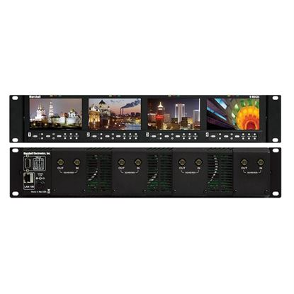 Obrázek V-MD434-3GSDI Four 4.3' Wide Screen Rack Unit with 4 x 3GSDI input modules installed