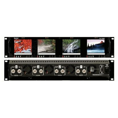 Obrázek V-R44P-HDSDI Four  HD 3.5' LCD Screen Rack Mount Panel with HDSDI Input
