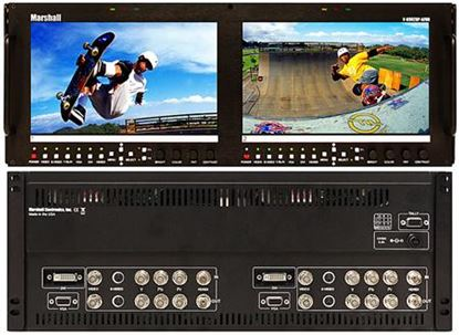Obrázek V-R902DP-AFHD Dual 9' Wide Screen High Resolution HD/SD monitor set with Advanced Features