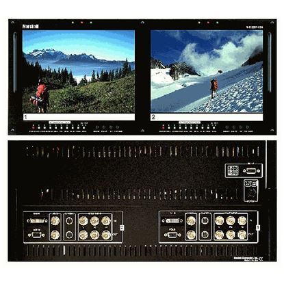 Obrázek V-R102DP-HDA Dual 10.4' LCD Rack Mount Panel with HDA + DVI inputs