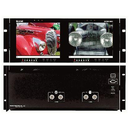Obrázek V-R82DP-HDSDI Dual 8.4' LCD Rack Mount Panel with HDSDI Input