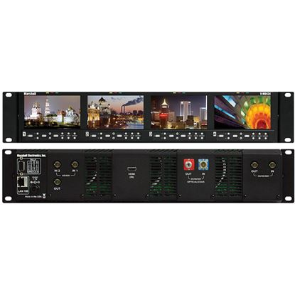 Obrázek V-MD434 Four 4.3' Wide Screen Rack Unit with no input Modules