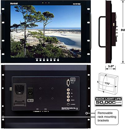 Obrázek V-R171P-HDA 17' LCD Rack Mount Panel with HDA inputs