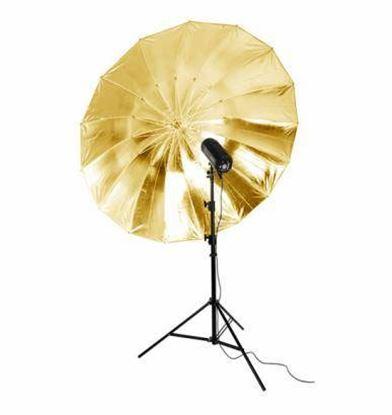Obrázek BIG deštník zlatý odrazný 150 cm
