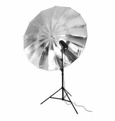 Obrázek BIG deštník stříbrný odrazný 185 cm