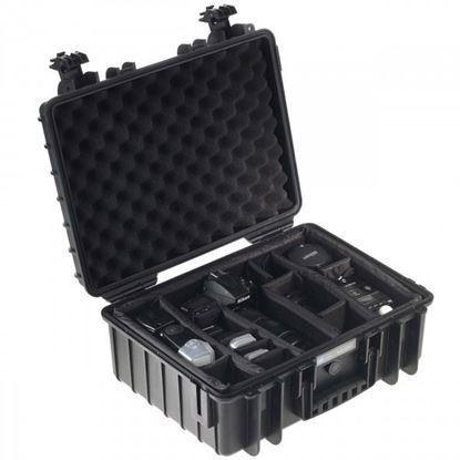 Obrázek Kufr typ 5000 černý vč. dělících přepážek