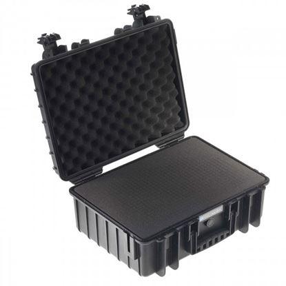 Obrázek Kufr typ 5000 černý vč. pěnové vložky