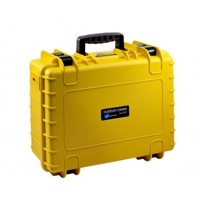 Obrázek Kufr typ 5000 žlutý vč. pěnové vložky