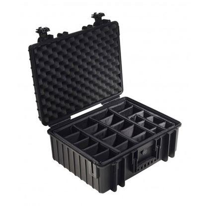 Obrázek Kufr typ 6000 černý vč. dělících přepážek