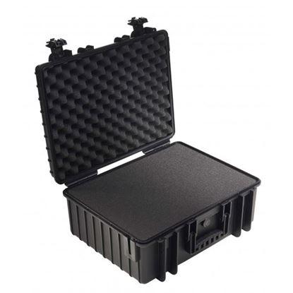Obrázek Kufr typ 6000 černý vč. pěnové vložky