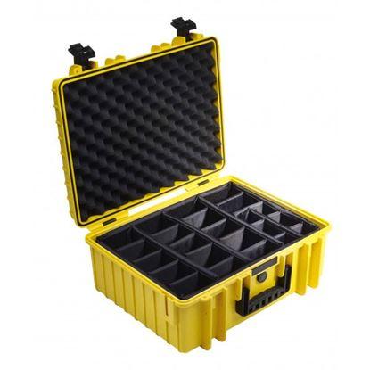 Obrázek Kufr typ 6000 žlutý vč. dělících přepážek