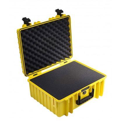 Obrázek Kufr typ 6000 žlutý vč. pěnové vložky